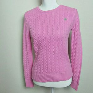 Lilly Pulitzer Baby Pink Cable Knit Sweater Small